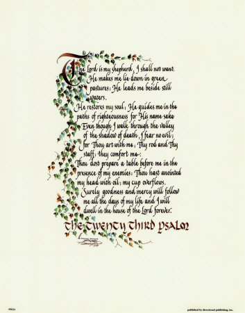 Sly image for printable 23rd psalm