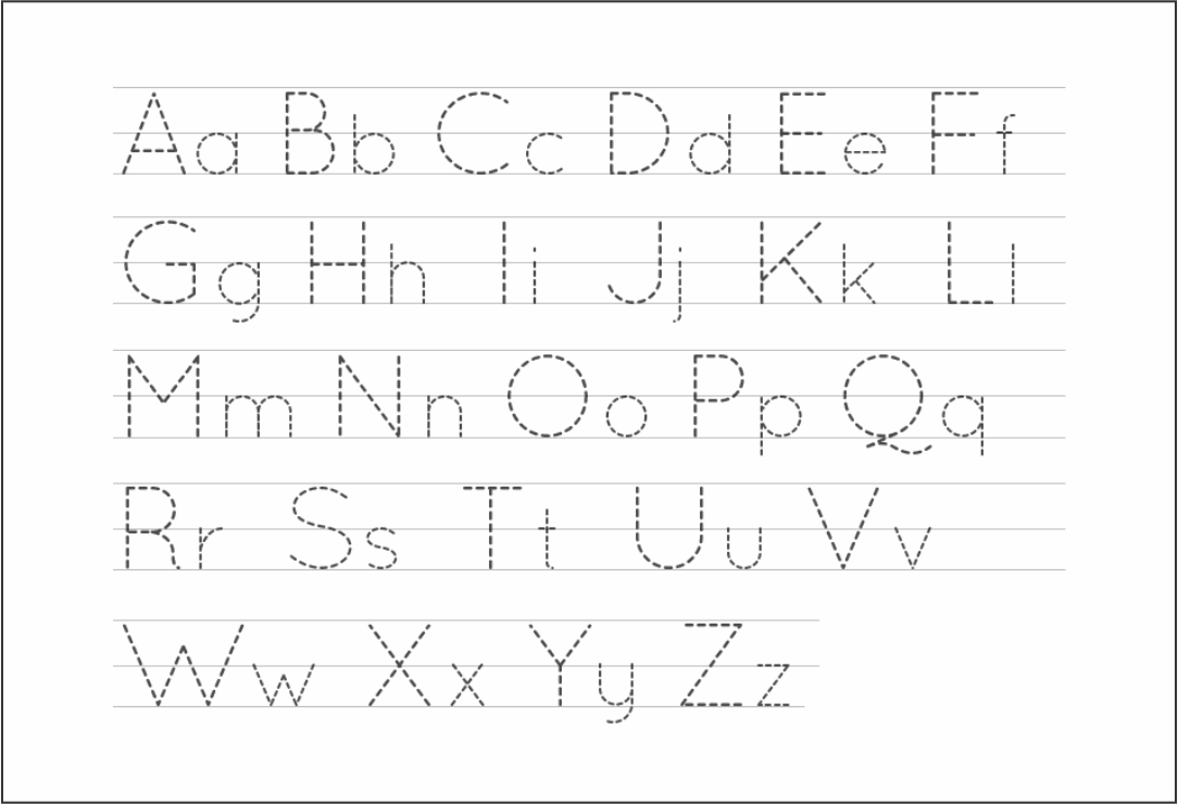 Printable Alphabet Letter Tracing Worksheets