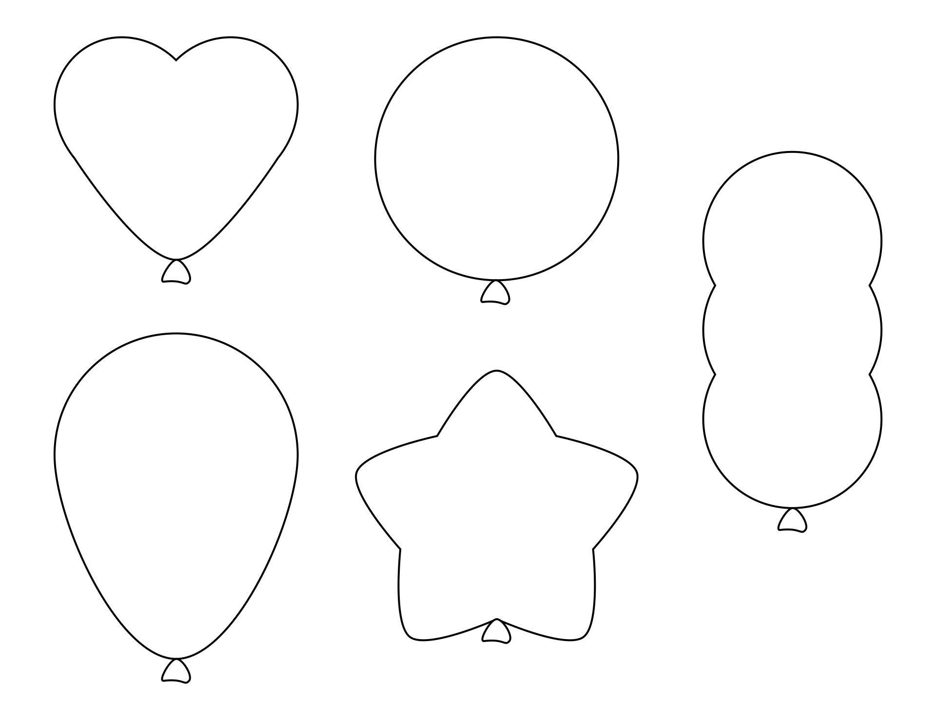 Printable Balloon Shape