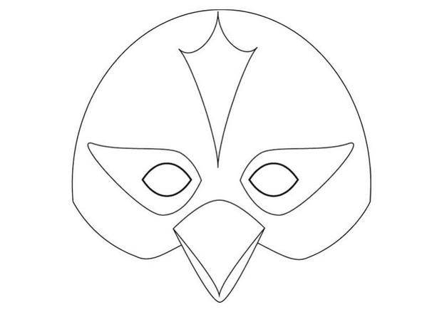 8 Images of Printable Bird Mask