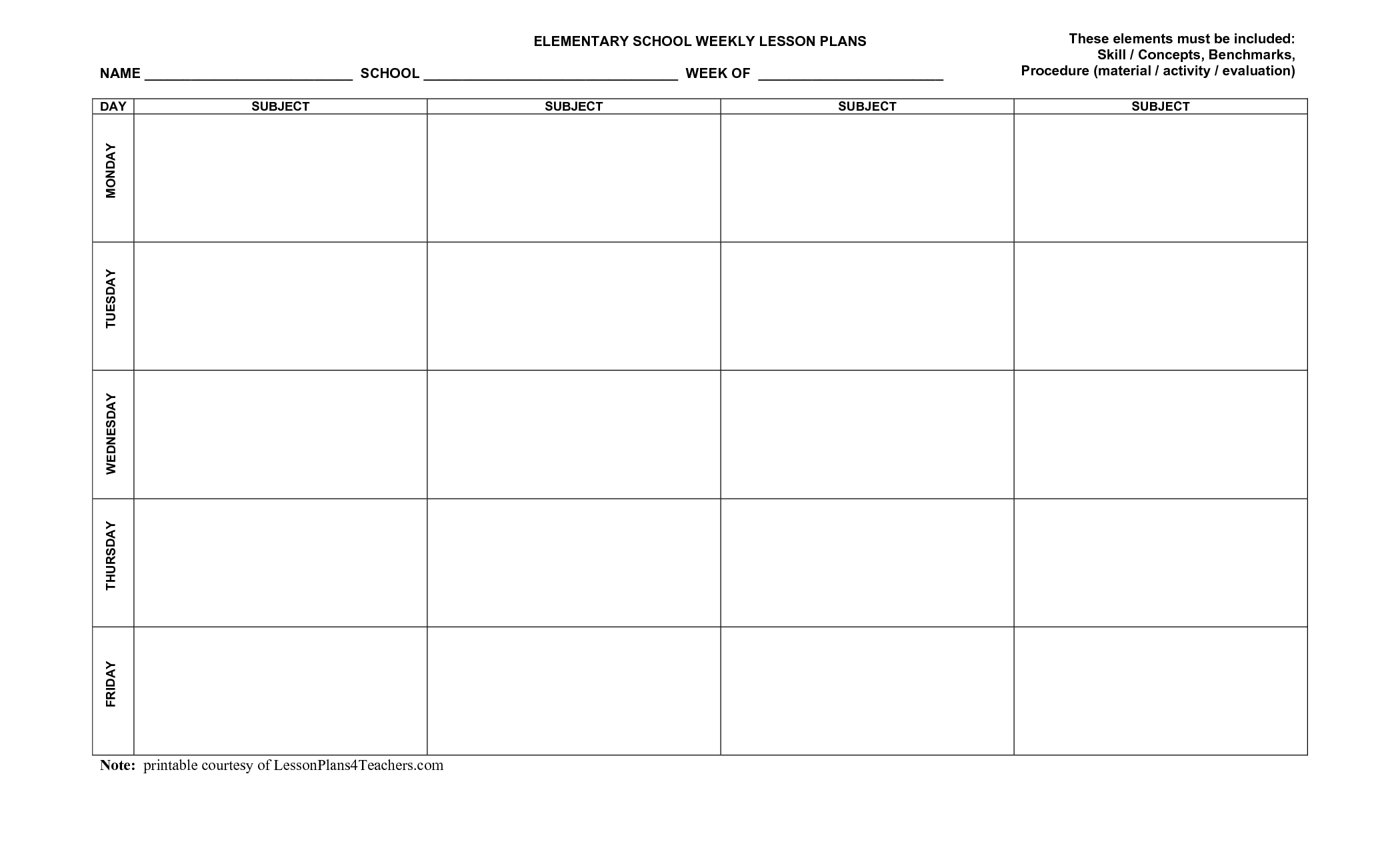 7 Images of Printable Templates For Teachers