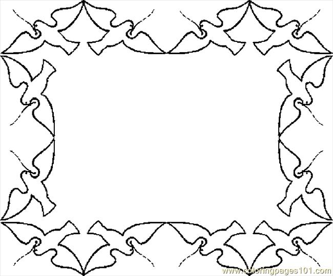 6 Images of Free Printable Border Coloring Pages