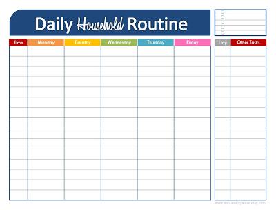 best daily schedule