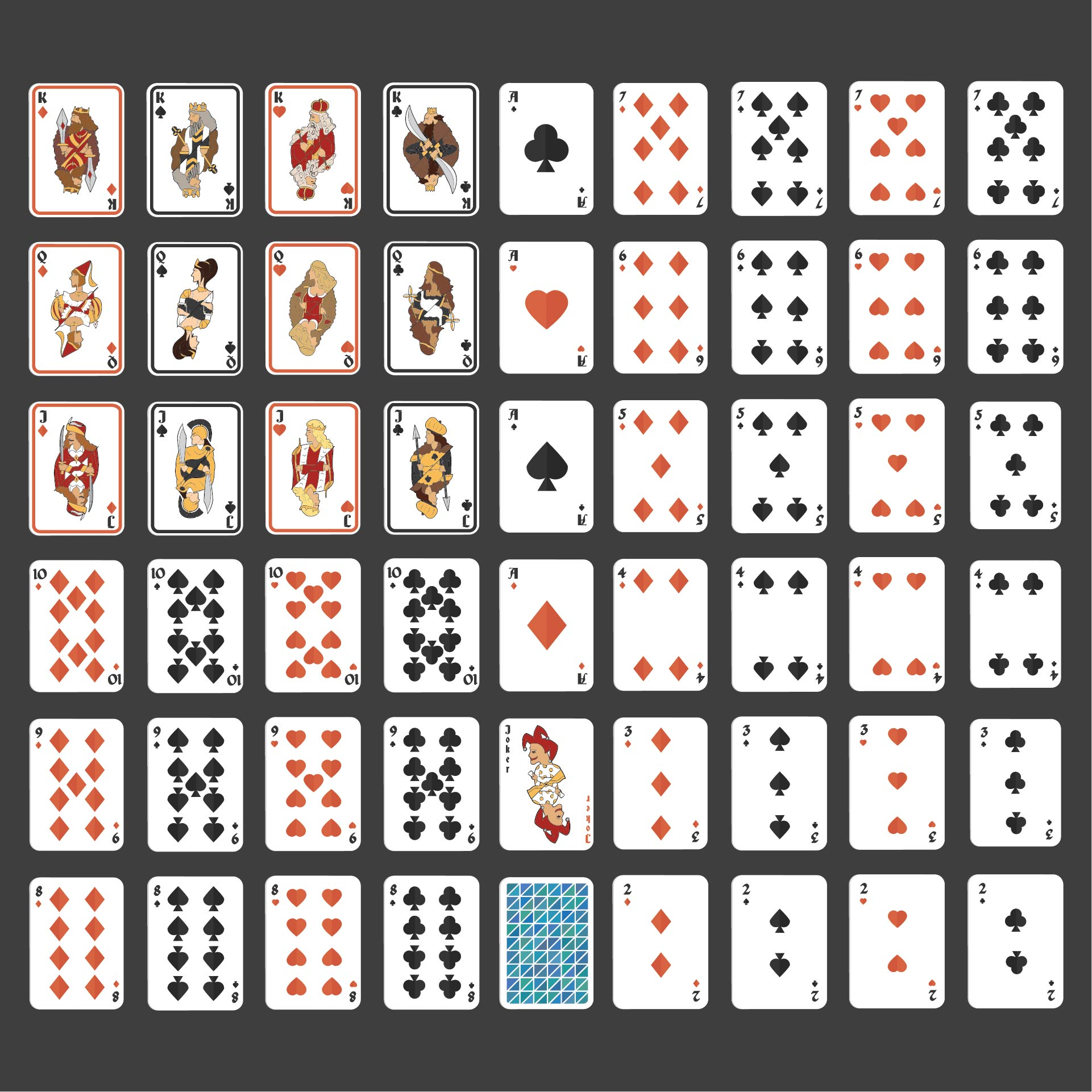 21 Best Deck Of Cards Printable - printablee.com Inside Deck Of Cards Template