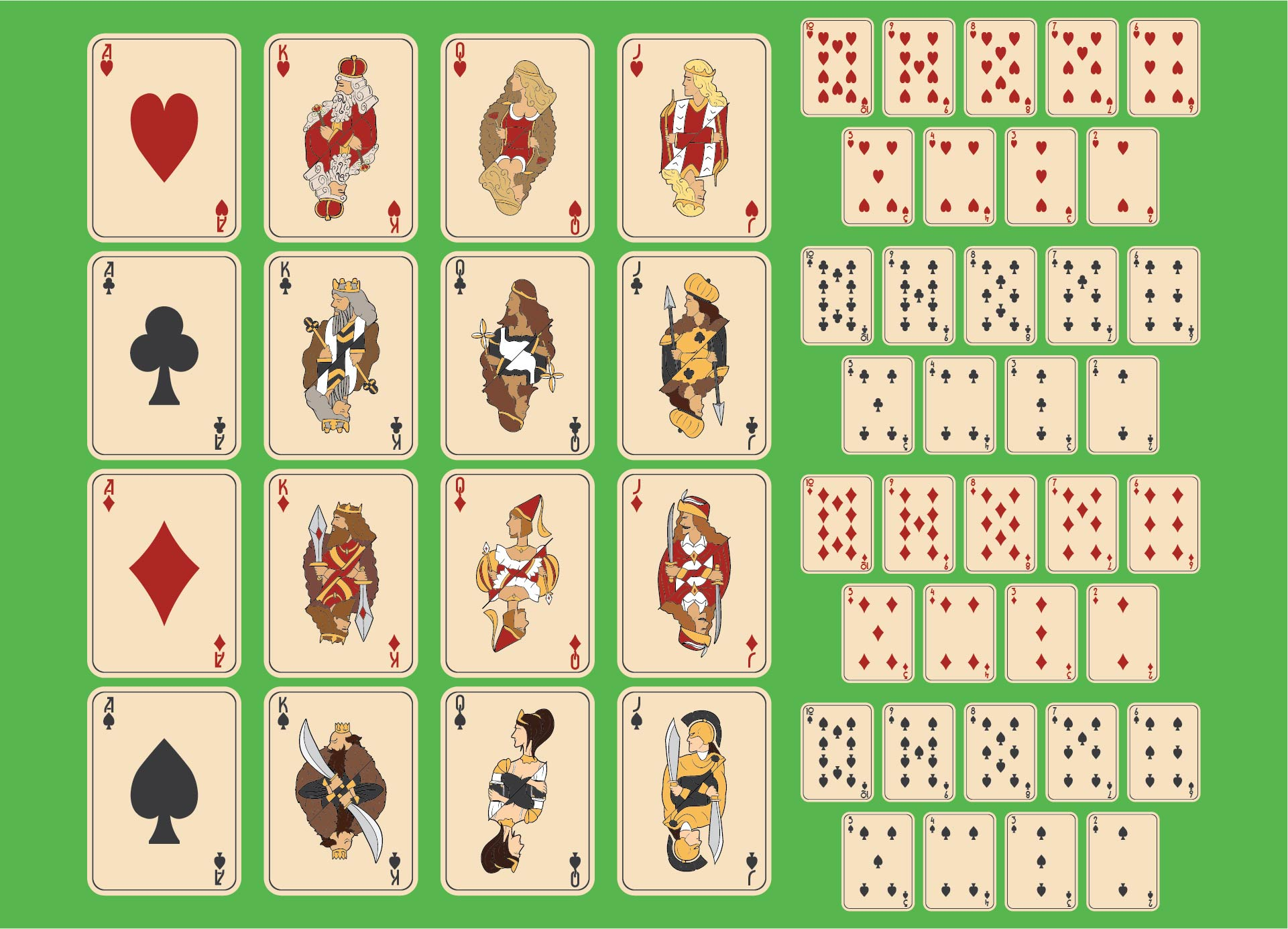 Printable Deck of Playing Cards PDF