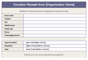 Donation Form Blank Template