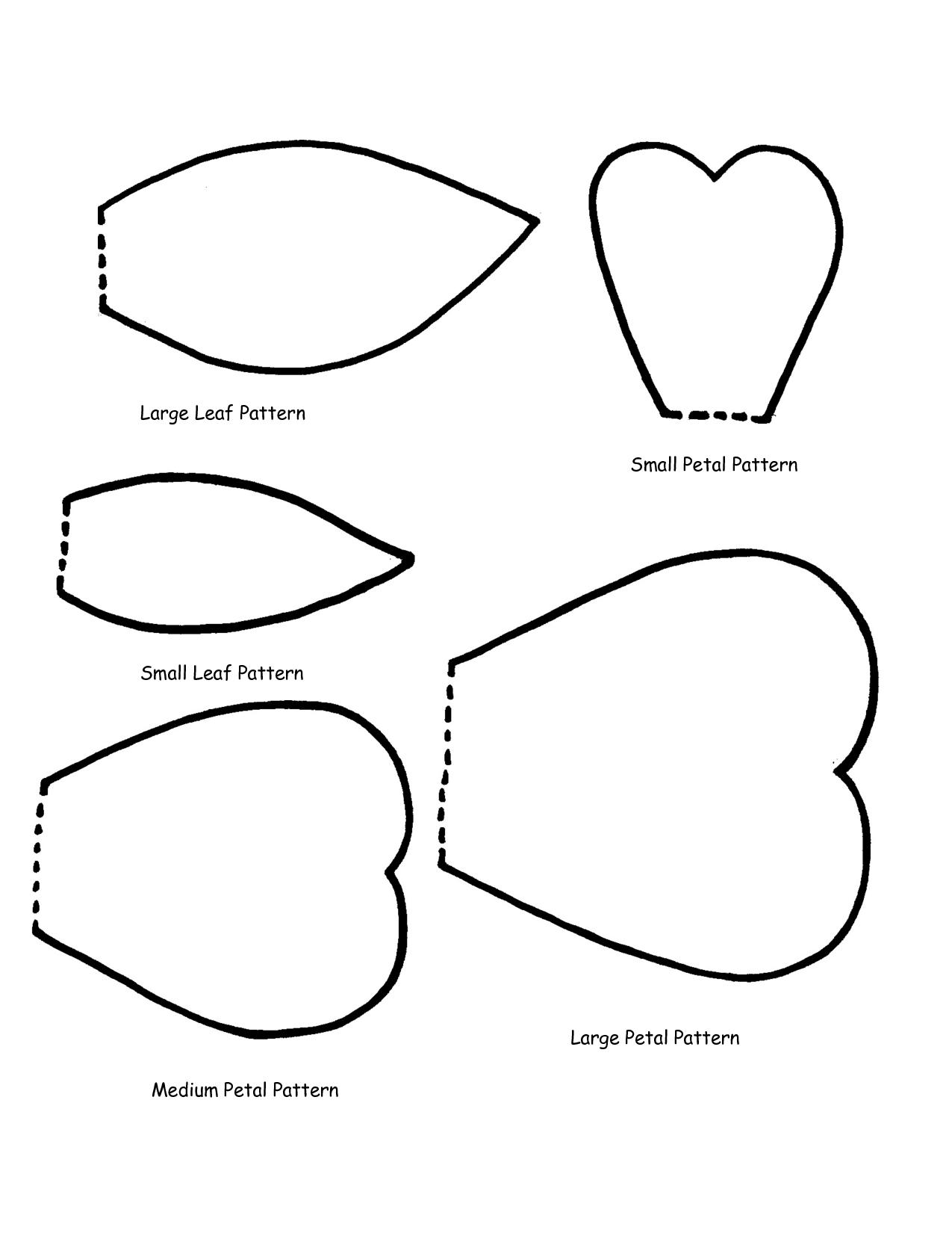 Printable Flower Petal Template Pattern