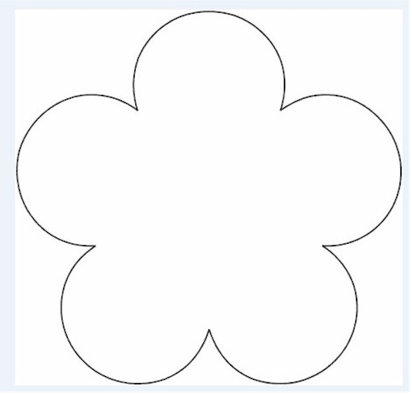Printable Flower Template Pattern