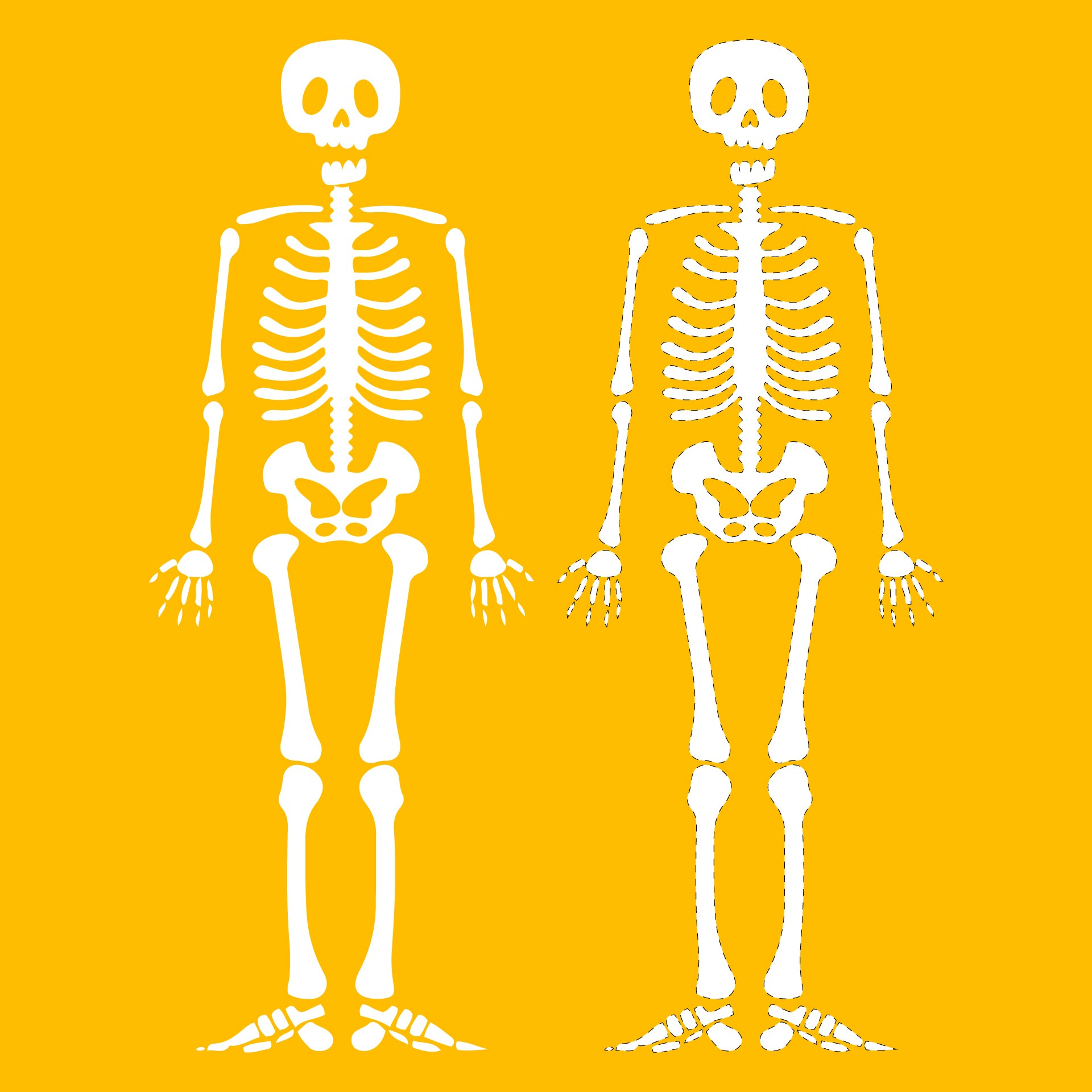 skeleton template to cut out - 8 best images of halloween skeleton template printable