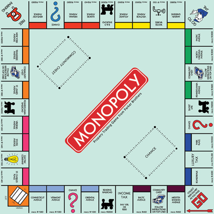 4 Images of Monopoly Game Board Printable