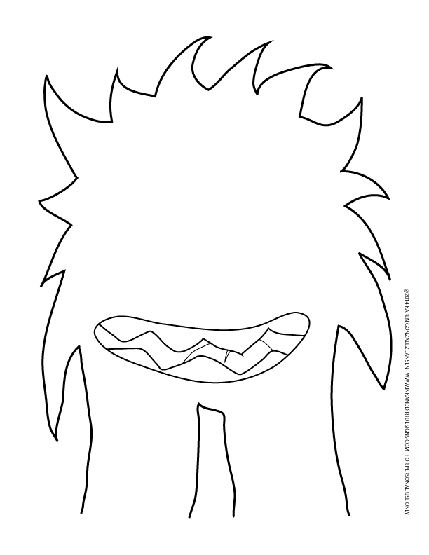 8 best images of monster printable templates printable for Template monstre