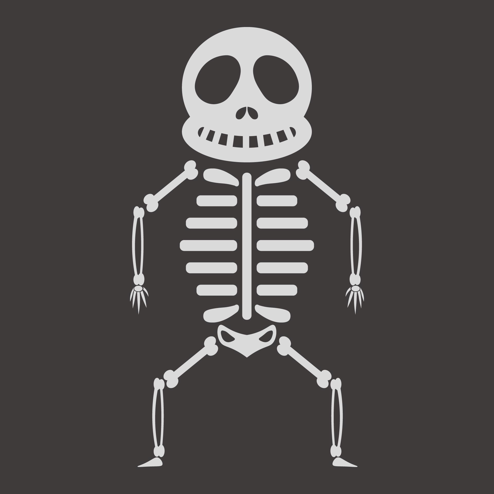 8 Images of Halloween Skeleton Template Printable
