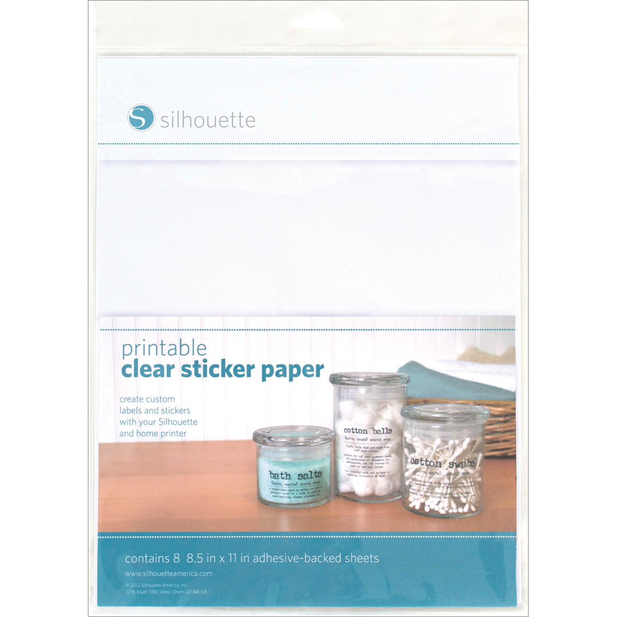 6 Images of Silhouette Clear Printable Sticker Paper