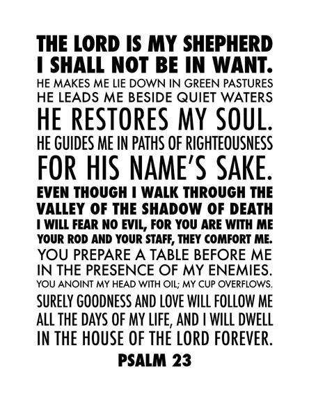 Effortless image for printable 23rd psalm