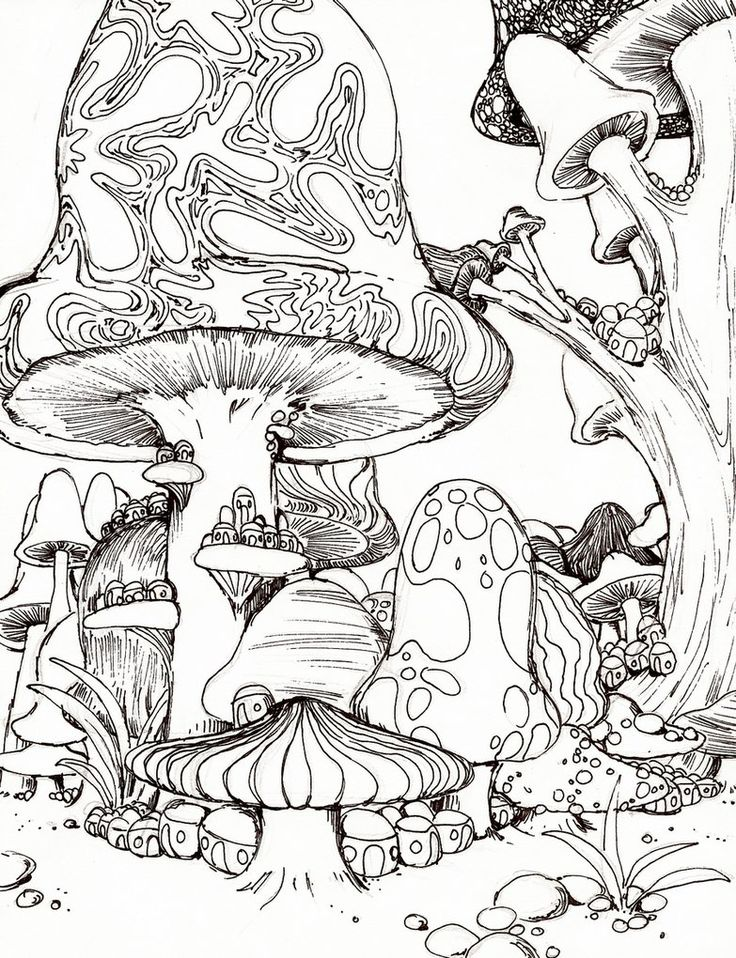 8 Images of Printable Coloring Posters Adult Trippy