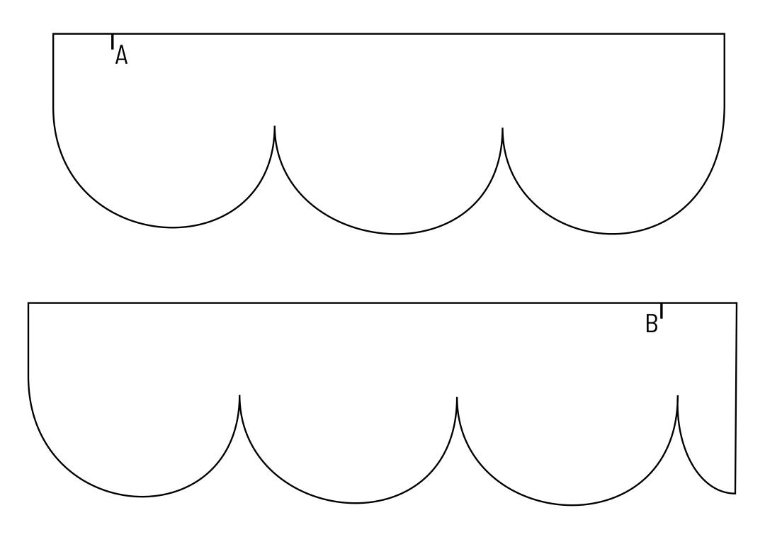 Scallop Edge Pattern Template
