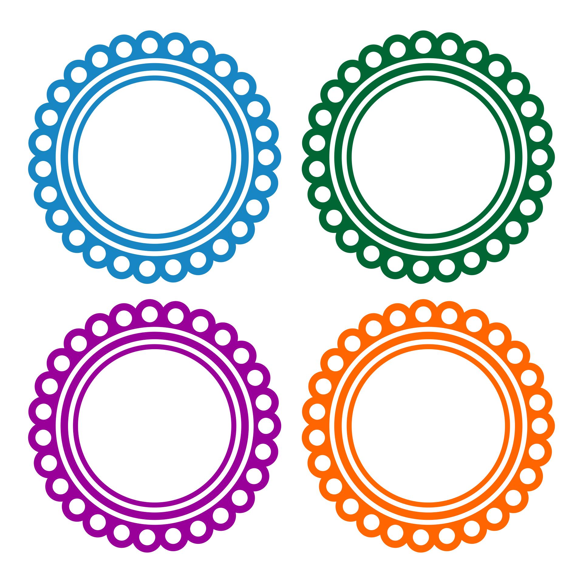 Scalloped Circle Clip Art