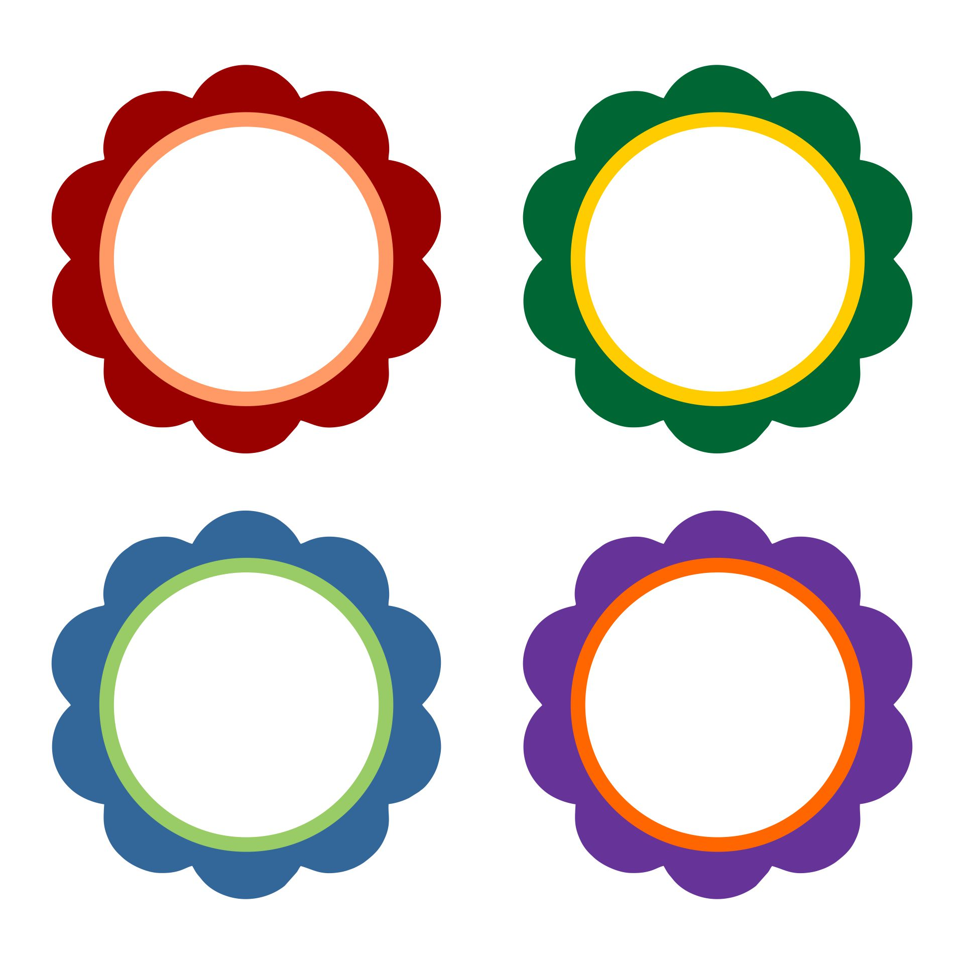 Scalloped Circle Templates Printable Free