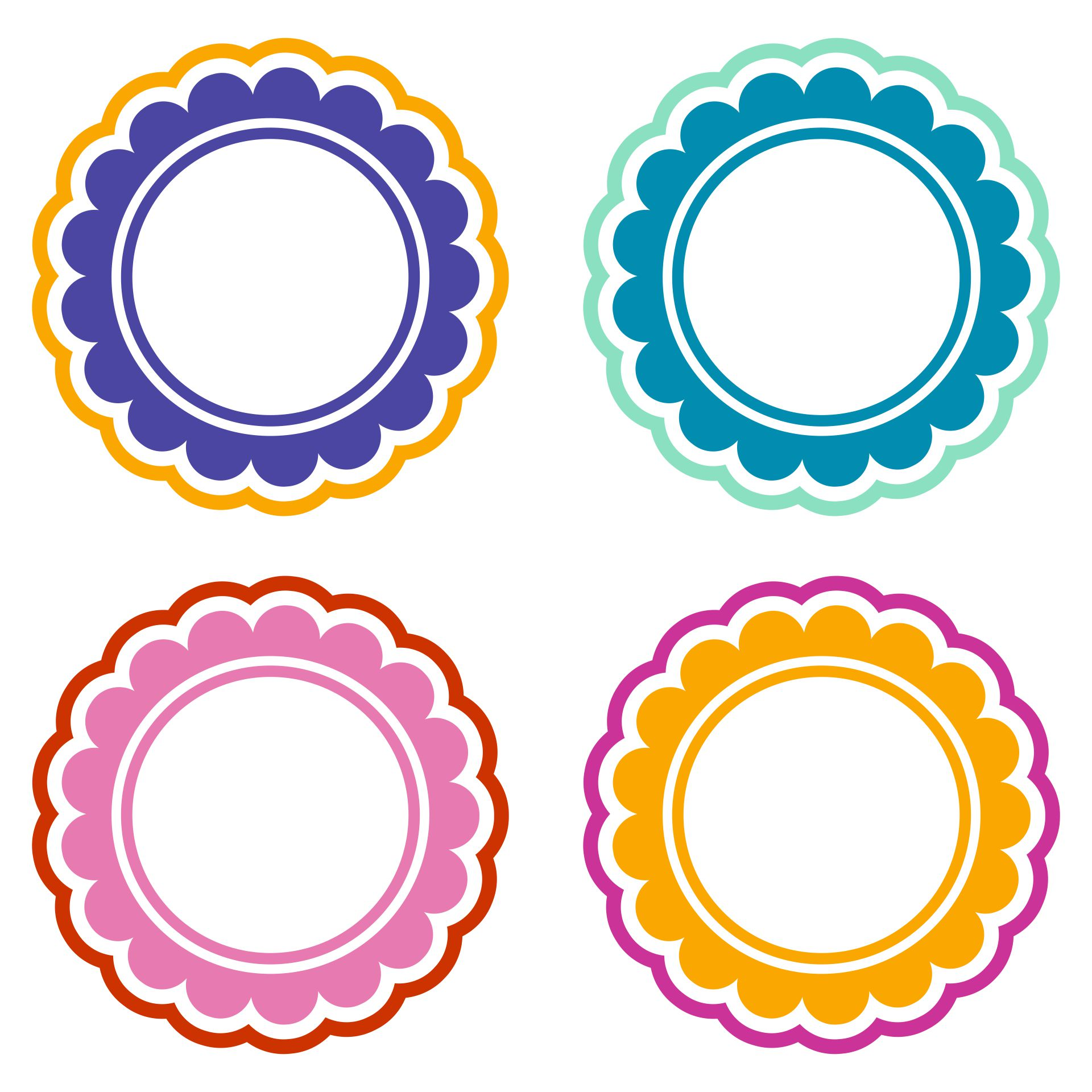 Scalloped Edge Circle Template