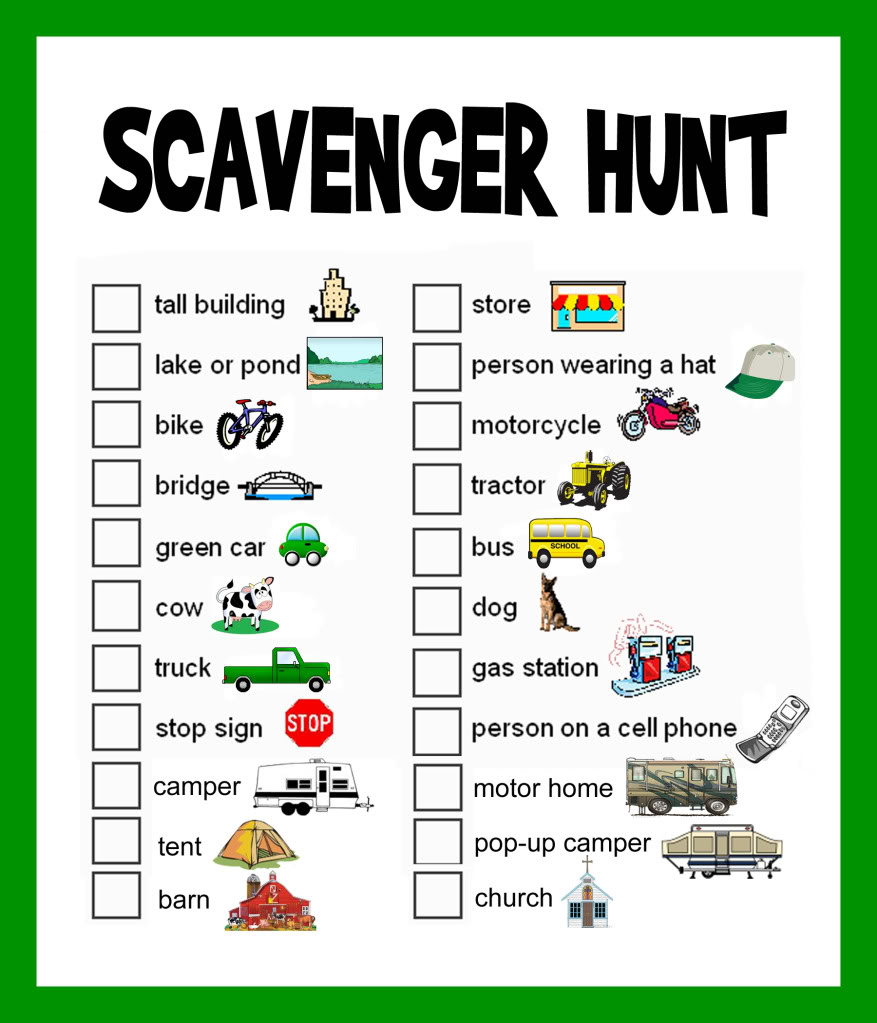4 best images of printable scavenger hunts for adults for Outdoor christmas activities for adults
