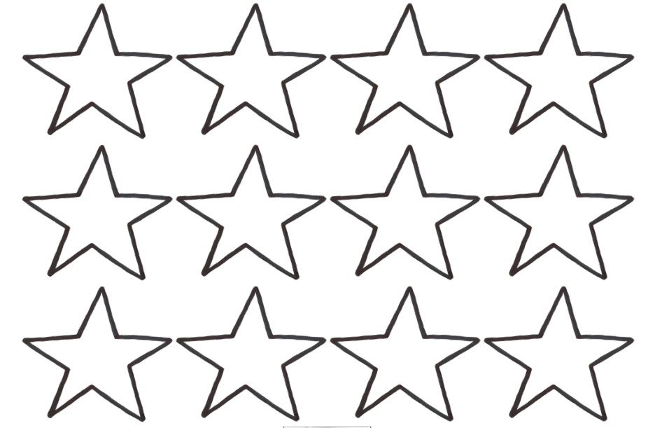 5 Images of Small Star Template Printable