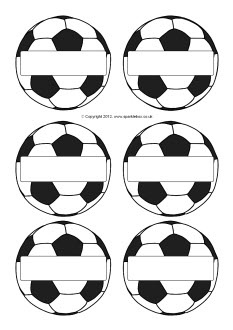 7 Images of Soccer Ball Printable Tags