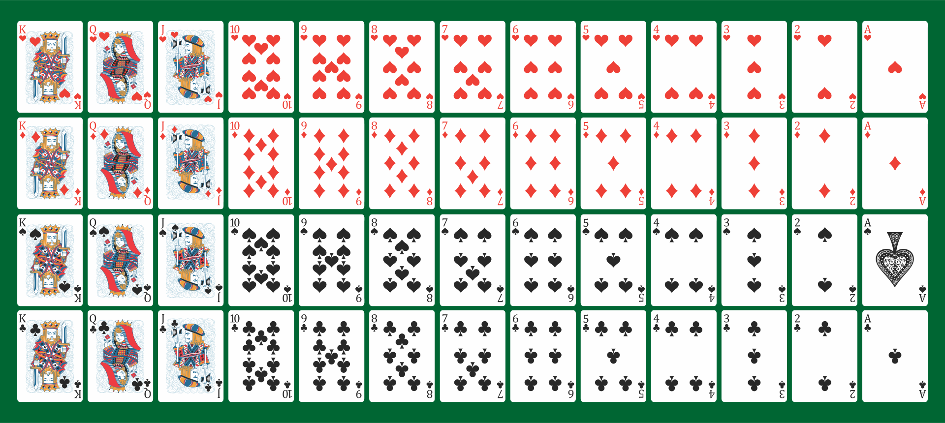 52 playing cards images download