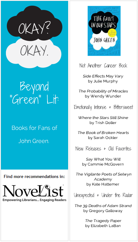 9 Images of TFiOS Printable Bookmark