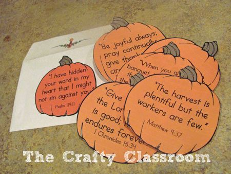 4 Images of Pumpkins With Bible Verses Printables