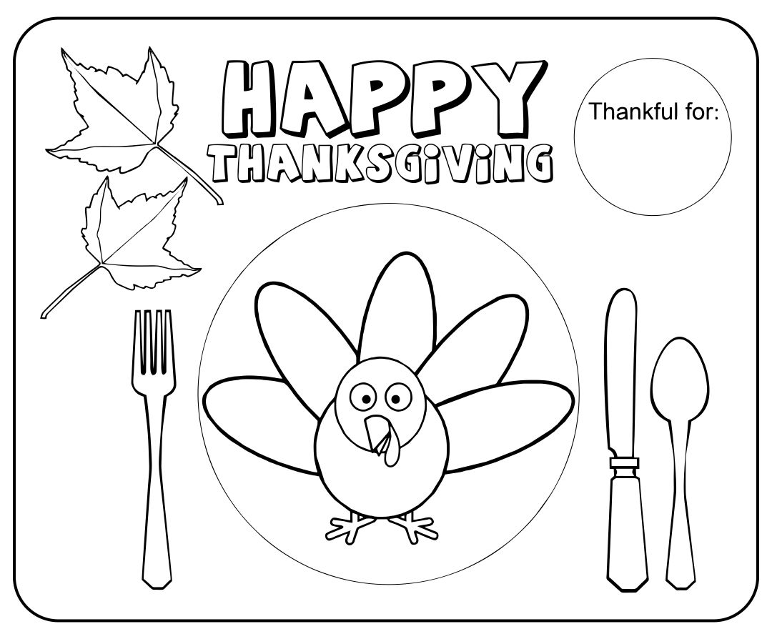 Thanksgiving Kid Placemats | A Girl