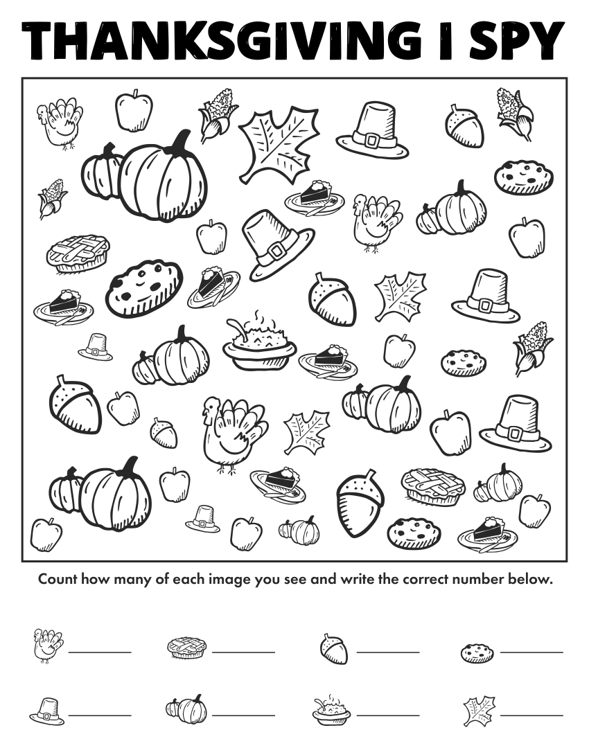 Number Names Worksheets free thanksgiving math worksheets : 6 Best Images of Free Printable Thanksgiving Math Worksheets ...