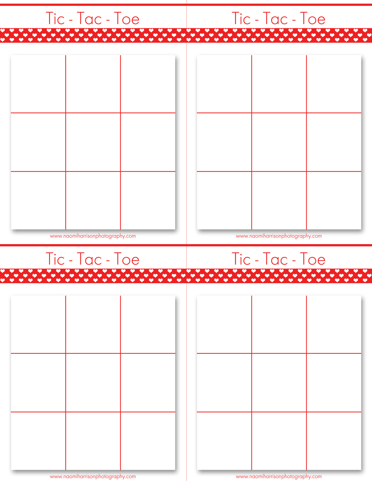 7 Images of Printable Valentine Tic Tac Toe Boards
