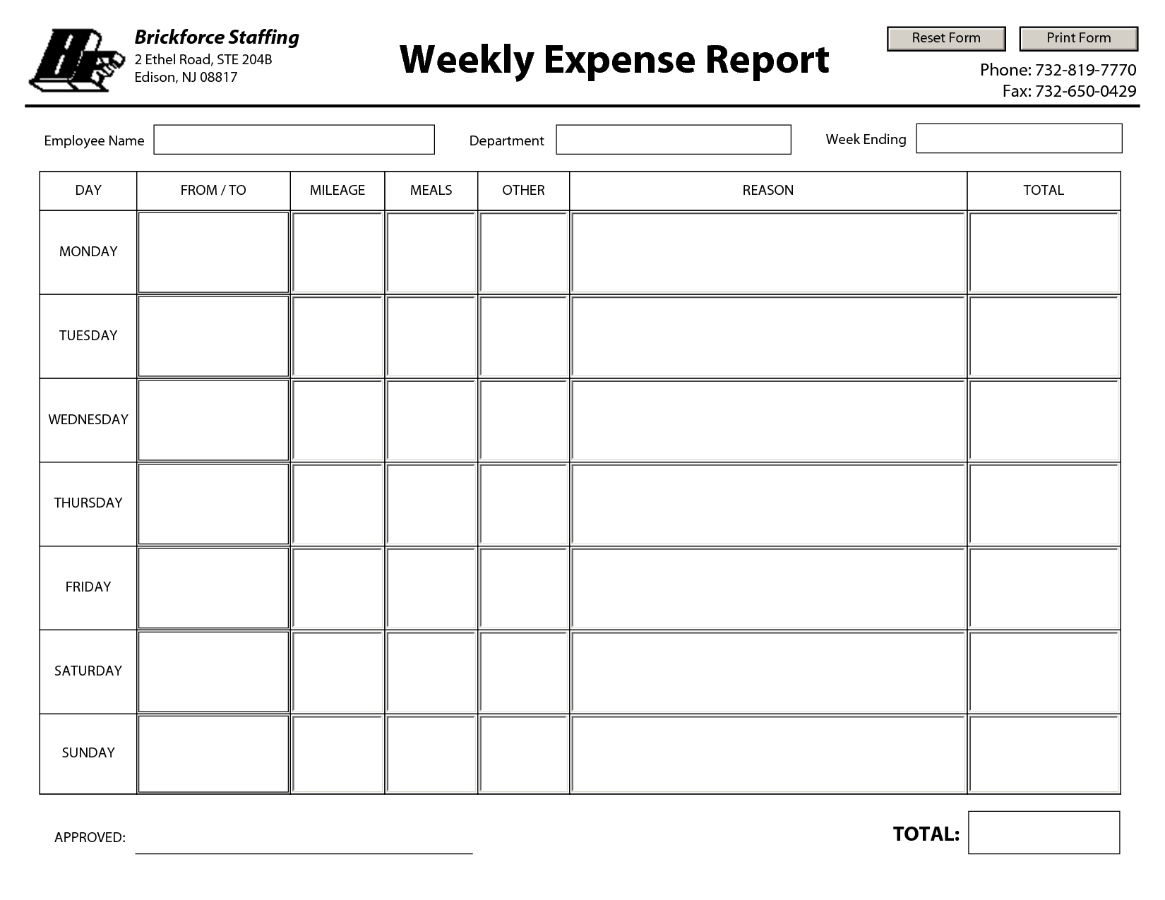 7 Best Images of Free Printable Weekly Expense Report - Free ...