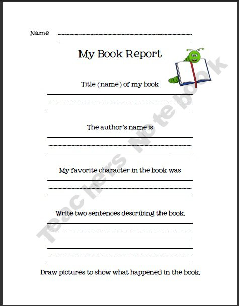 book report format for first graders creative book report ideas for first grade worksheets. Black Bedroom Furniture Sets. Home Design Ideas