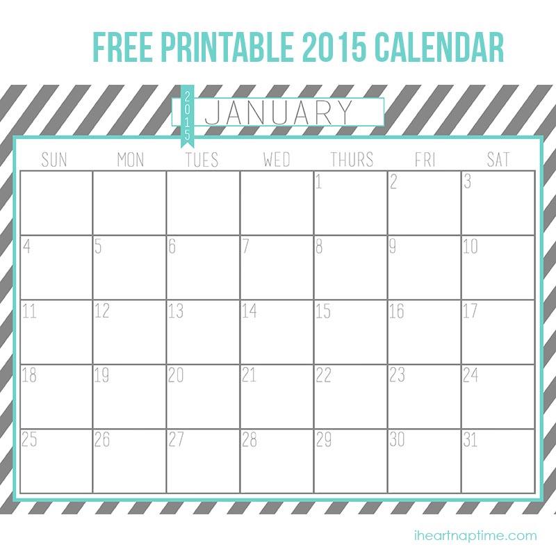 2015 Calendar Printable Free