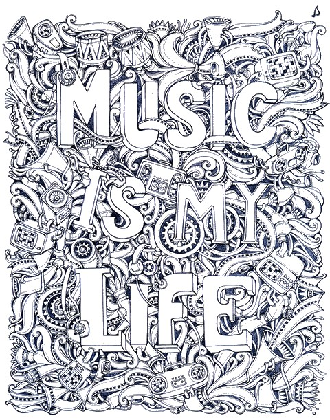 Adult Music Coloring Pages