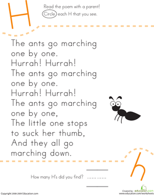 6 Images of Printable Worksheet Letter A Ants