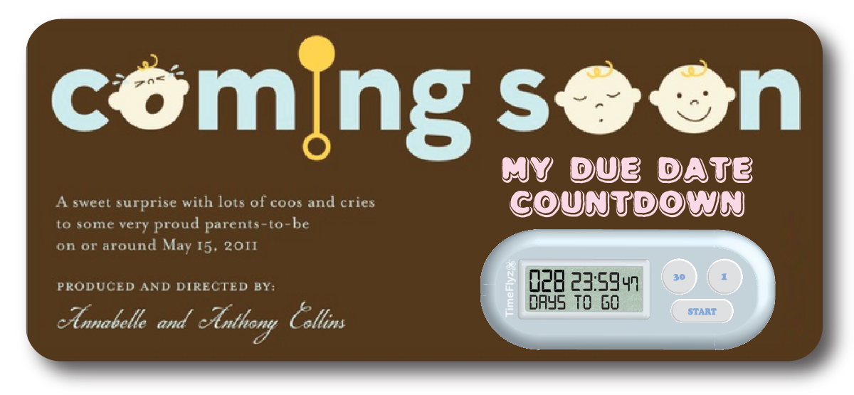 8 Images of Baby Due Countdown Printable Sheet