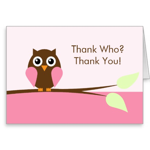 5 Images of Printable Owl Thank You Card