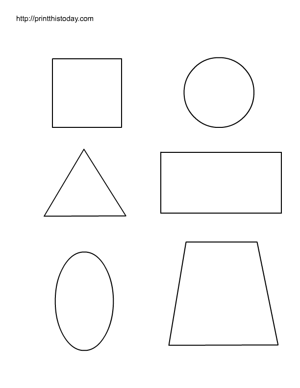 8 Images of Basic Printable Shapes Free