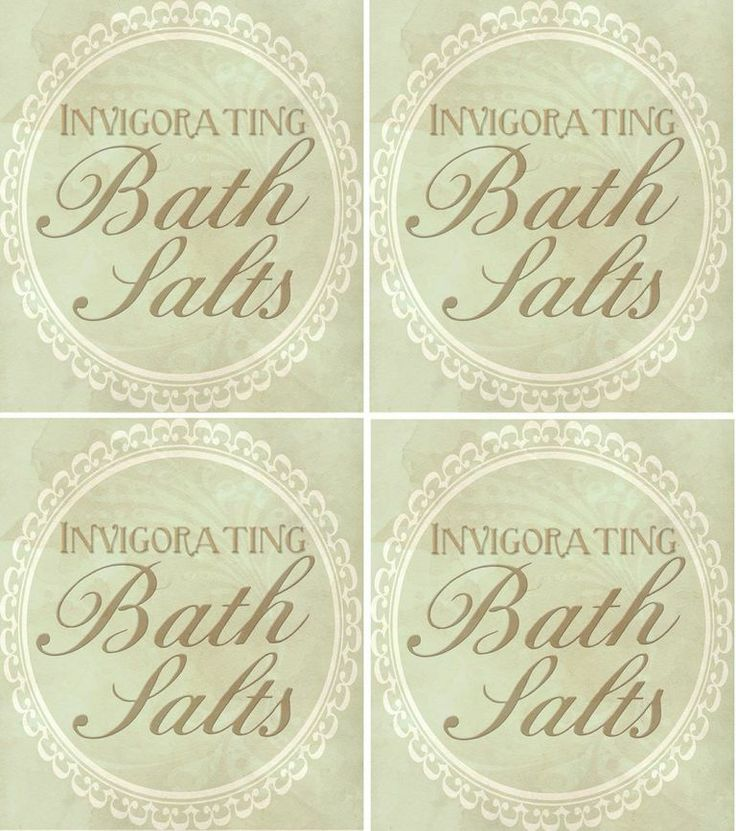 6 Images of Bath Salt Free Printables