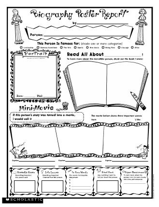 6 Images of Biography Book Report Printables