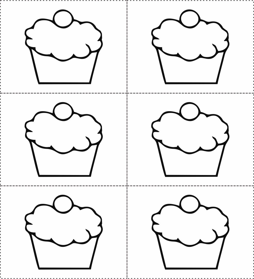 Cupcake Template 8 best images of monthly birthday cupcake printables ...