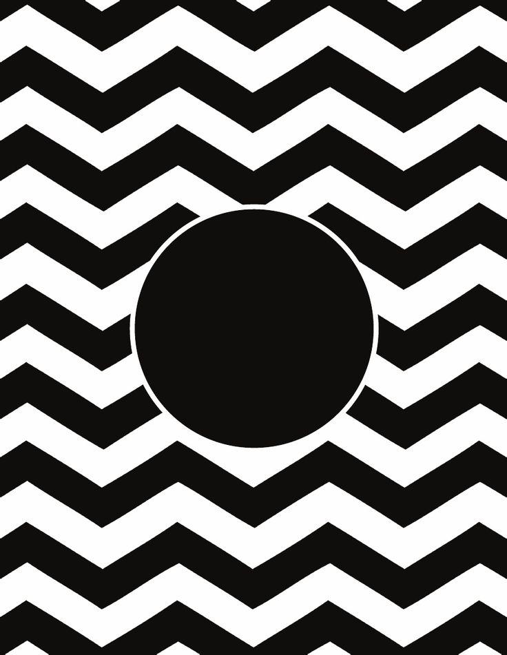 8 Images of Black Chevron Monogram Printables
