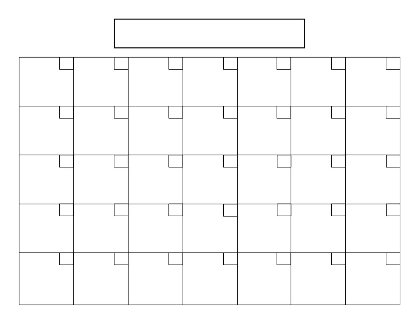 7 Images of Printable Blank 8 X 11 Calendar Grid Template