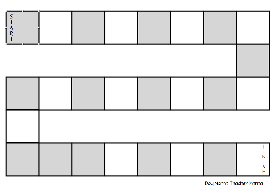 Blank Board Game Template Printable Images & Pictures - Becuo