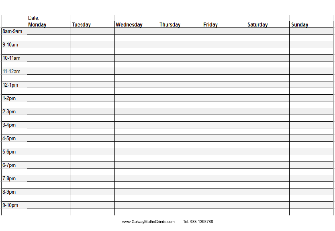 6 Images of Weekly Schedule Printable For Teachers
