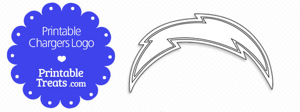 Chargers Bolt Printable Logo