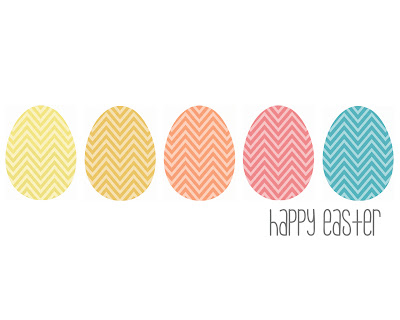 Chevron Happy Easter Printables
