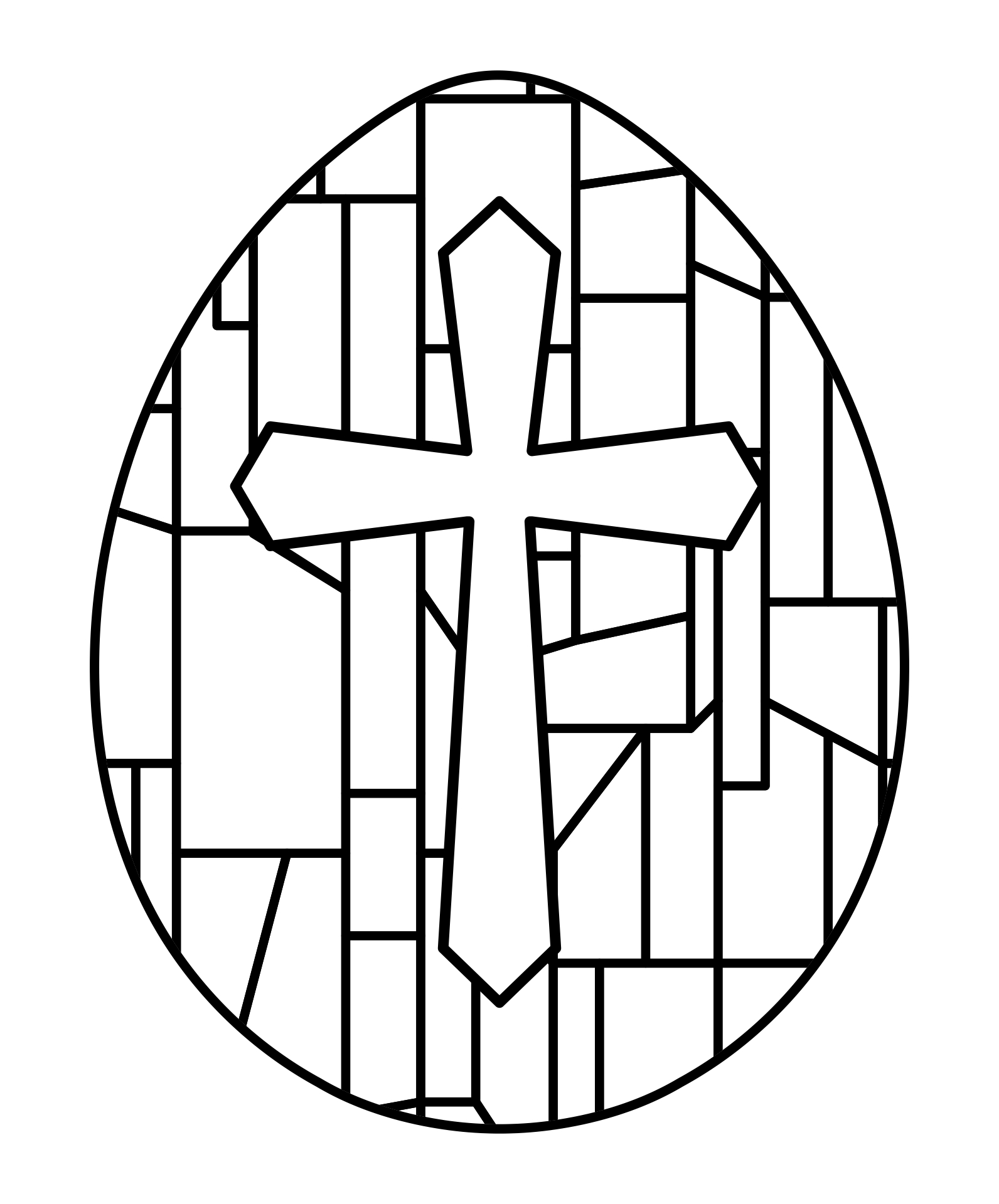 5 Images of Free Printable Christian Easter Coloring Pages
